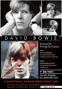 DAVID-BOWIE-SHAPE-OF-THINGS-TO-COME-7-034-RED-VINYL-BRAND-NEW