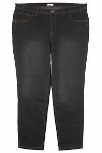 Sheego Kira Stretch Jeans Die Narrow Slim Jeans Black Ladies Denim