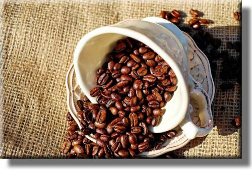 Wall Art Décor Ready to Hang! Coffee Beans Kitchen Picture on Acrylic