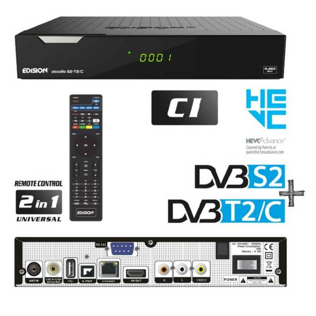 Edision Piccollo 3in1 Plus CI HD Receiver HDTV DVB S2T2C IPTV USB Edison Argus