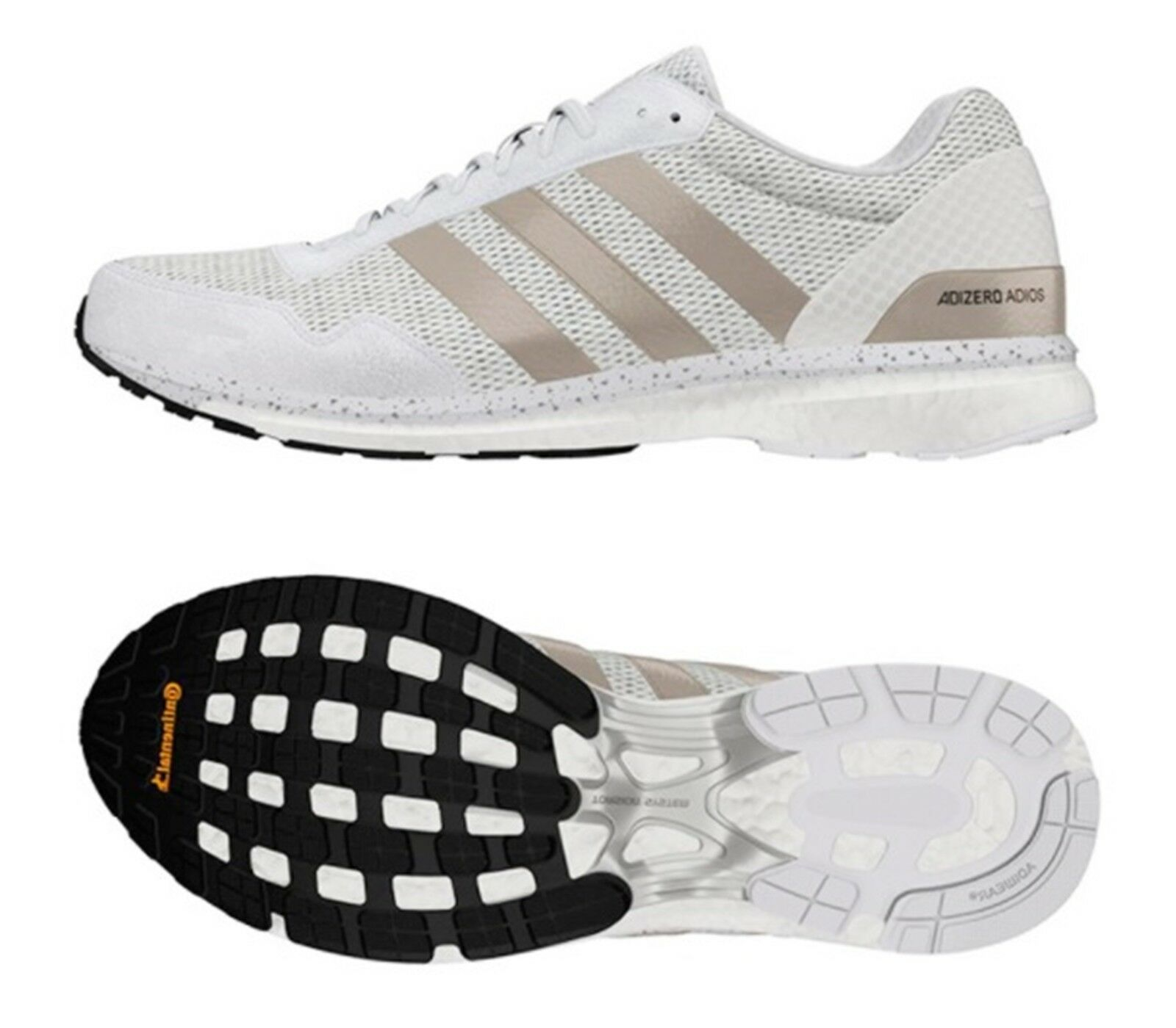 fbf2e97ecd4f6 Adidas Men Adios Training shoes Running White Sneakers GYM shoes BB6439  Adizero njubwp8858-Men