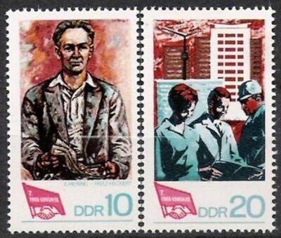 Deutschland Postfrisch Und Ein Langes Leben Haben. PüNktlich Ddr Nr.1363/64 ** Fdgb Kongreß 1968 Motive