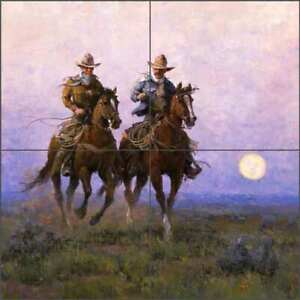 Western-Tile-Backsplash-Jack-Sorenson-Cowboy-Art-Ceramic-Mural-RW-JRA007