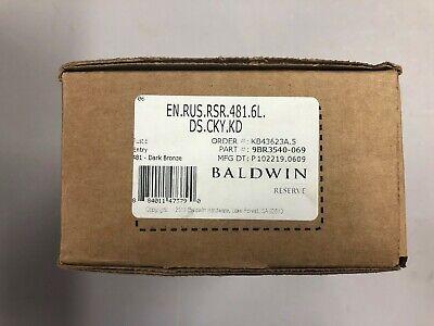 Baldwin Reserve Tube Door Lever EN.TUB.R.CRR.112.6L.DS.CKY.KD Venetian Bronze