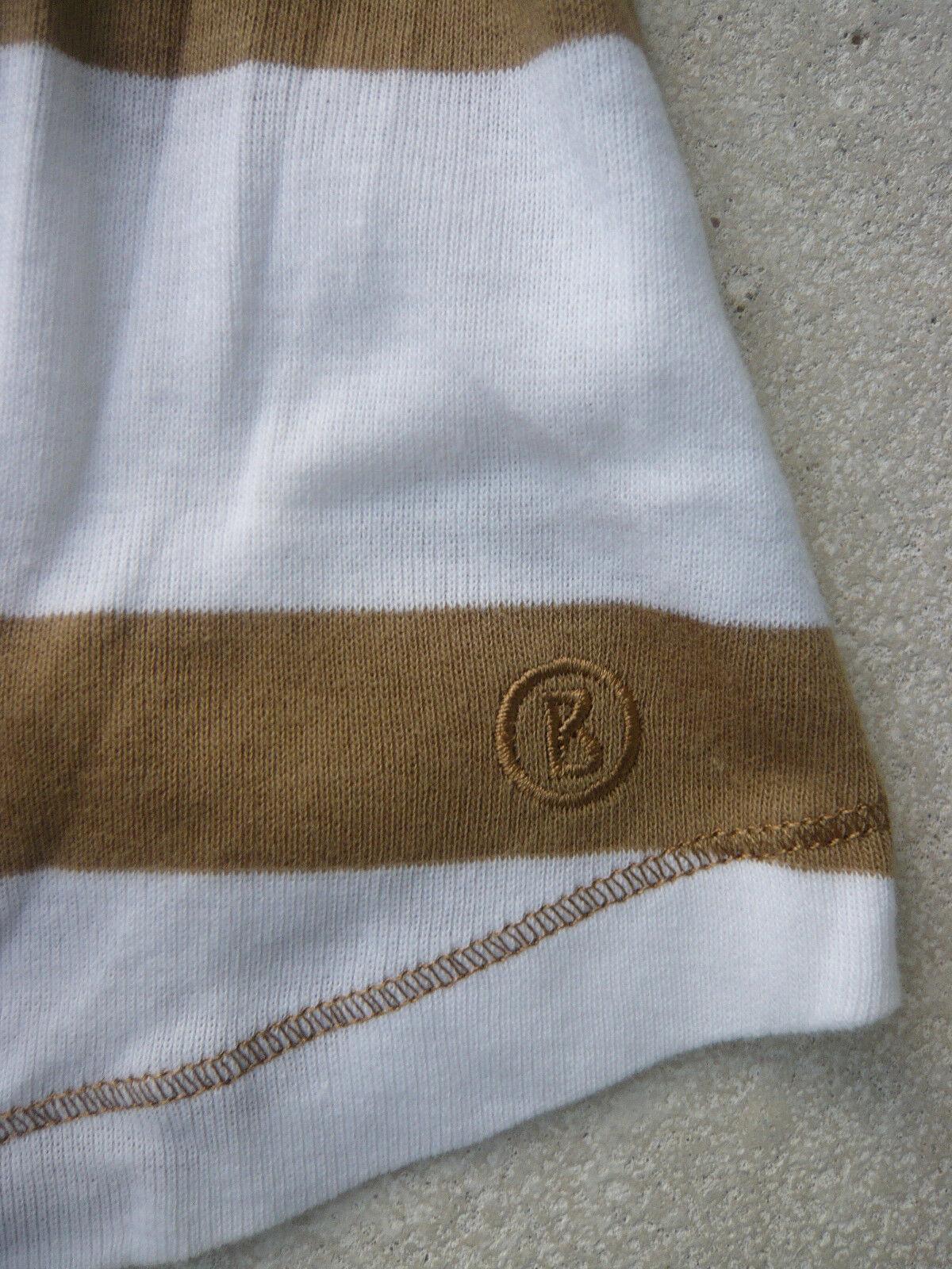 139e83a54d7bc1 ... Bogner Bogner Bogner T-Shirt 3 4arm Gr. 38 Baumwolle weiss camel  gestreift Rundhals ...