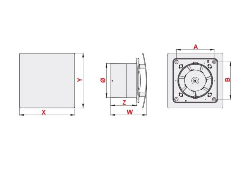 """4/"""" with Pull Cord Switch S100WPEH Polished Chrome Bathroom Extractor Fan 100mm"""