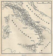 A4822 Appennino - Carta geografica antica del 1953 - Old map