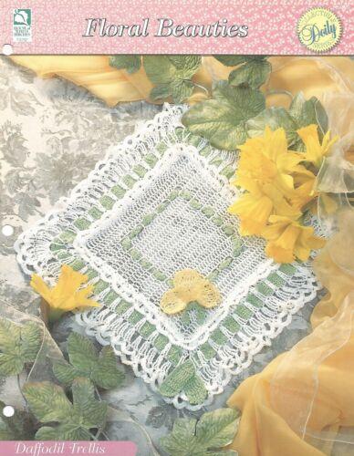 Floral Beauties HOWB Series Daffodil Trellis Square Doily Crochet Pattern