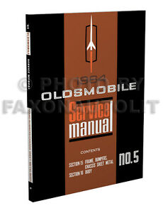 1964 oldsmobile body shop manual 64 olds repair 88 98 cutlass f85 rh ebay com Nissan UD 1800 Manual WF328AAW XAA Service Manual