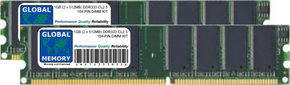 1 Go (2 x 512Mo) DDR 333Mhz PC2700 184 BROCHES PowerMac G4 Mac Mini G4 eMac G4