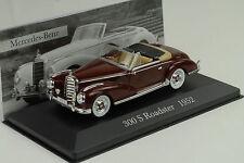 1952 Mercedes-Benz W188 300 S Roadster red dunkelrot 1:43 IXO Altaya Collection