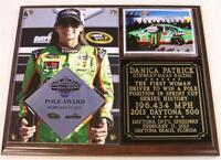 Danica Patrick 10 Pole Position Award 2013 Daytona 500 Photo Plaque
