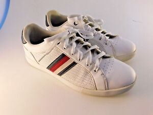 4e48f9926fc3a Tommy Hilfiger Todd Men's Sz 10.5 White Athletic Sneakers Shoes TM ...