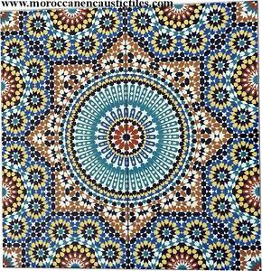 Image Is Loading Moroccan Large Wall Tiles Zalij Style Handmade In