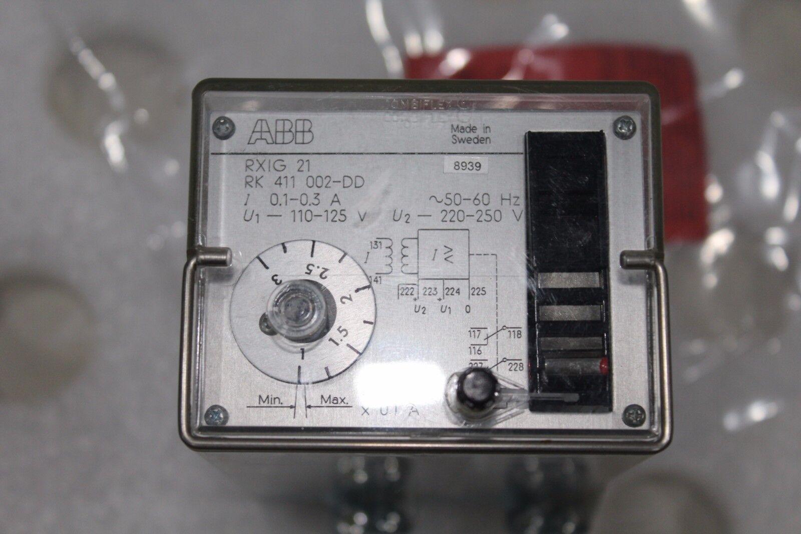 Abb Overcurrent Relay Rxig 21 Rk 411 002 Dk Ebay