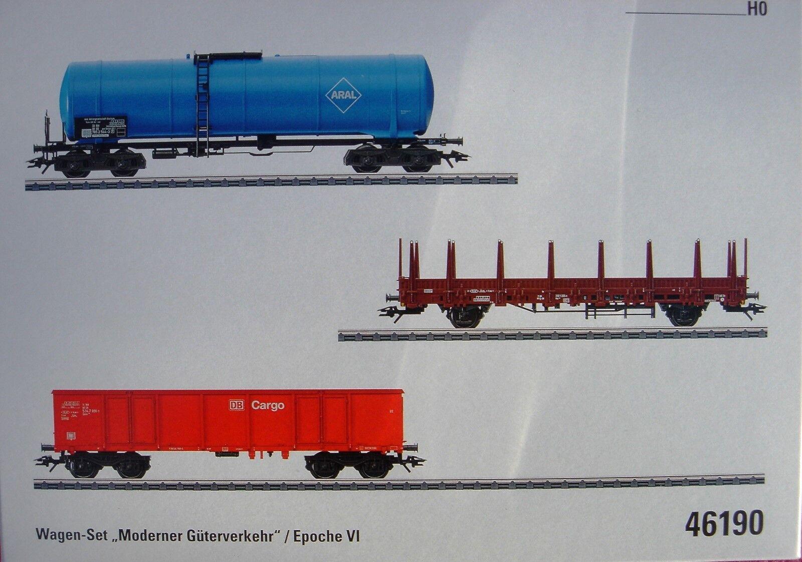 Märklin 46190 Wagen - Set   Moderner  Güterzugverkehr     HO - EPOCHE VI - NEU