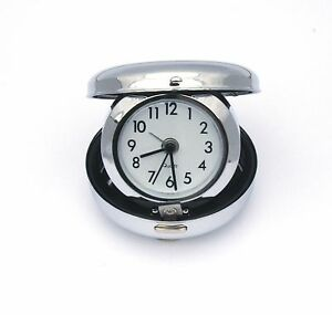 Royal Navy Lest We Forget Travel Chrome Alarm Clock Ideal Army Gift BK60