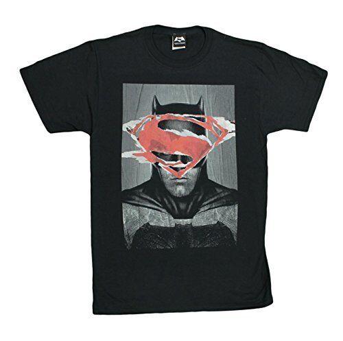 DC Comics Batman VS Superman Poster Batman Men/'s T-Shirt
