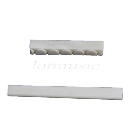 Classical//Acoustic Guitar Bone Nut And Blank Bone Saddle Portable