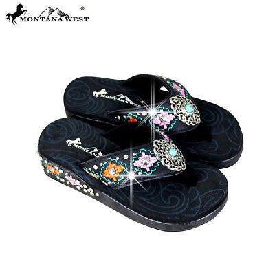 Montana West Aztec Flip-Flops Collection SE64-S152-TAN