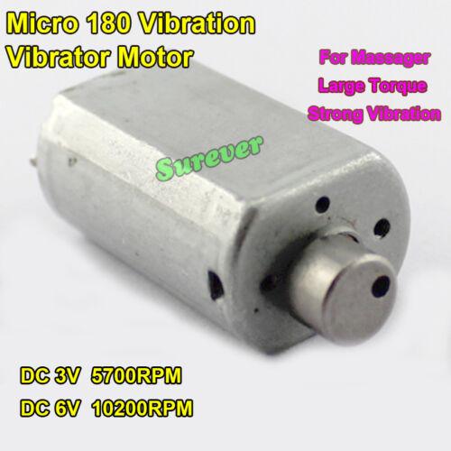 Micro 180 Vibration Vibrator Motor DC 3V-6V 5700-10200RPM Large Torque Massager