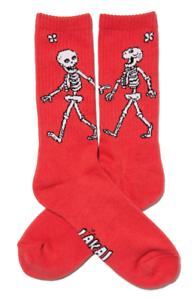 Lakai Skateboard Skate Schuhe Shoes Footwear Socks Socken Skeleton Crew Red