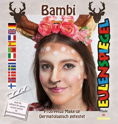 Reh Rehkitz Bambi Make Up Aqua Schminke Set Eulenspiegel Karneval