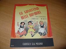 SPARTITO MUSICALE LA GAVOTTINA DELLE BAMBOLE PER PIANOFORTE ENRICO MINEO 1946