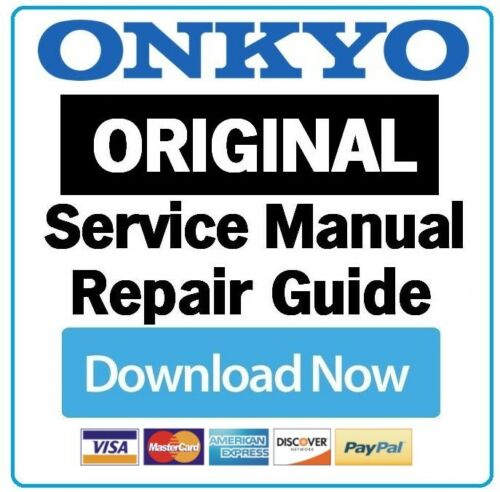 Onkyo TX RZ710 A//V Receiver Service Manual and Repair Guide