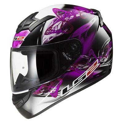 LS2/Motorradhelm S schwarz//violett