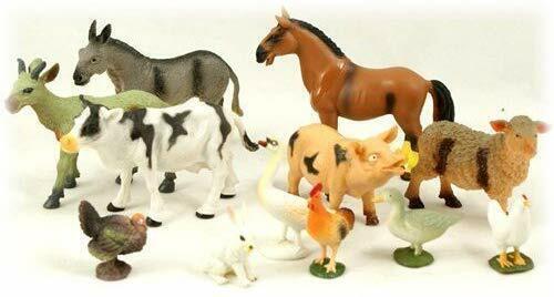 Peterkin marque 12pc Farm Animal Set 6 petites et 6 grandes