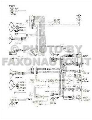 1978 Corvette Original Foldout Wiring Diagram 78 Chevy Chevrolet ... g body wiring diagram eBay