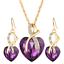 Women-Heart-Pendant-Choker-Chain-Crystal-Rhinestone-Necklace-Earring-Jewelry-Set thumbnail 36