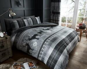 15b25110aeb5 Stag Print Duvet Cover Single Double Animal Bedding Set Super King ...