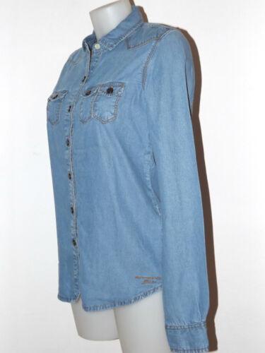 Amarillo Camicia Xs Denim Morbido Tg Tessuto Fornarina Jeans M Shirt Chiaro 4Fdqwt1w