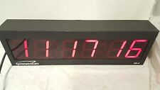 Symmetricom ND-4 NTP Internet Synchronized Red LED Atomic Wall Clock