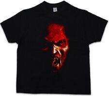 Kinder Jungen Mädchen Demon Kopf T-Shirt Gothic Horror Schädel Zombie Scary