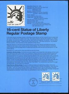USPS-1978-First-Day-Issue-Souvenir-Page-16-cent-Statue-of-Liberty
