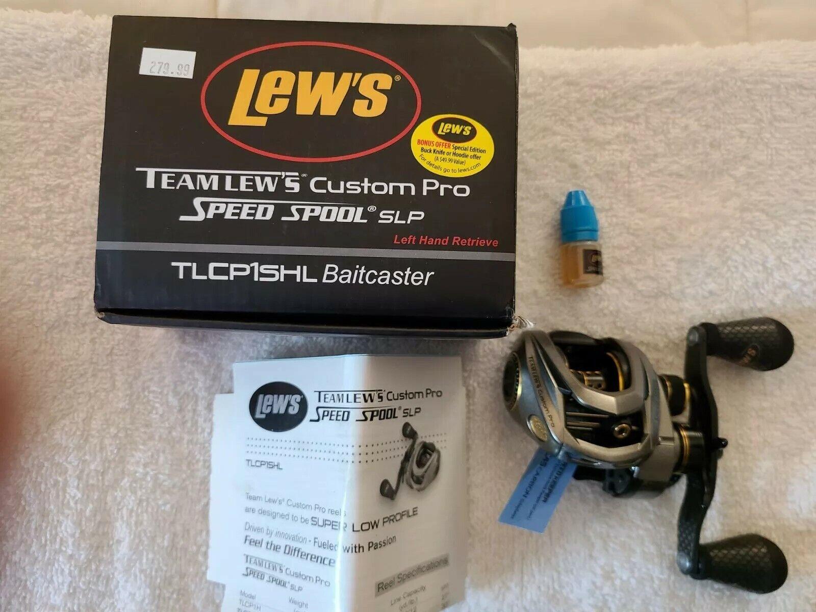 Lews Baitcaster Multirolle Custom Speed Spool SLP Linkshand Rolle Angelrolle