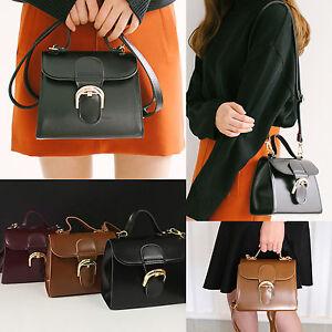 8a2b04b407 Korea Fashion Women O Buckle Mini Tote Handbags Cross Bag Black Wine ...