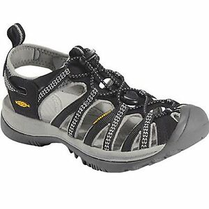 cc7e6456fe Image is loading Women-Keen-WHISPER-1008448-Black-Bungee-Lace-Athletic-