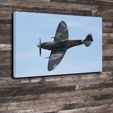 "Spitfire Printed Box Canvas A1.30""x20""-Deep 30mm Frame Aircraft Fighter Airforce"