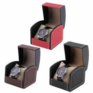 Automatic-Watch-Winder-Wooden-Dual-Automatic-Motor-Storage-Display-Case-PU-Box