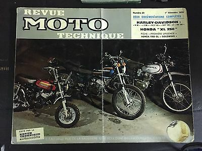 Revue Moto Technique Honda Harley-Davidson 1T 1976 No 20 ETAI