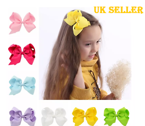 Cute-Girls-Big-Bow-Clip-6-039-inch-Head-clip-bow-UK-Seller-Same-Day-Dispatch