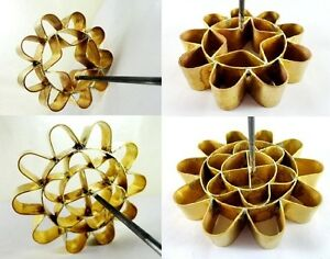 Thai Traditional Dessert Dok Jok Lotus Flower Cookies Brass