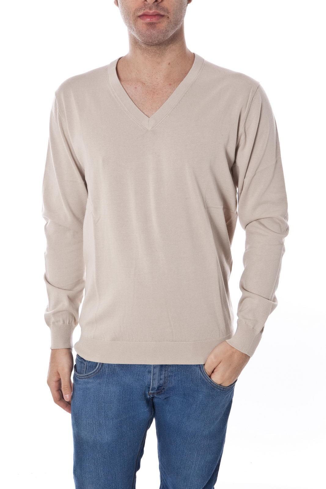 Maglia Daniele Alessandrini Sweater Cotone  Herren Beige FM52116A3300 15