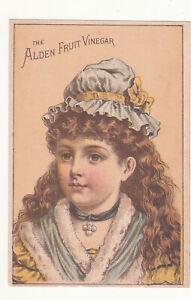 Alden Fruit Vinegar W R Hyatt & Co Dry Goods Yazoo City Miss Vict Card c1880s