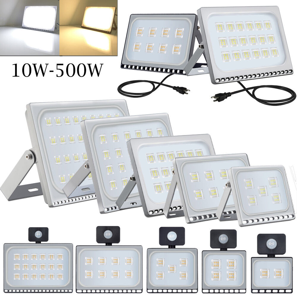 10//20//30//50//100//500W LED Floodlight PIR Sensor Motion Security Flood Lights Lamp