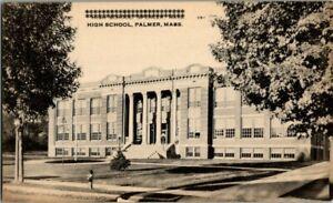 1930-039-S-PALMER-MASS-HIGH-SCHOOL-POSTCARD-T23